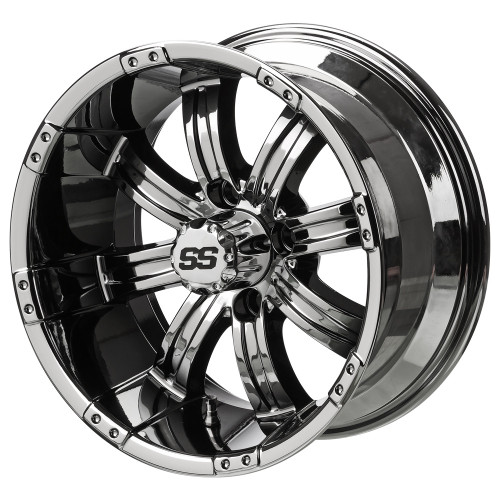 LSC Casino SS Black Mirror 14X7 3:4 Offset for Club Car, EZ-GO and Yamaha Golf Carts