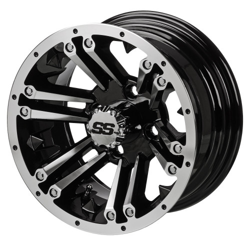LSC Raider SS 10X7 Machined/Black 3+4 Offset