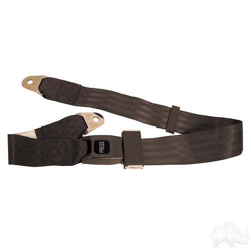 "Seat Belt, Black, Lap Belt, 60"" Fully Extended"