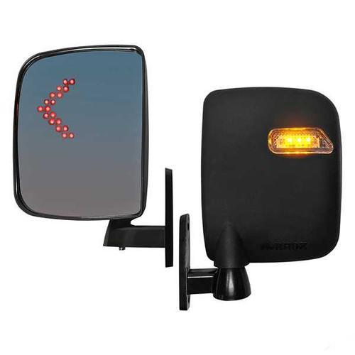 Golf Cart Mirror, Side LED, Set of 2, 12V-48V