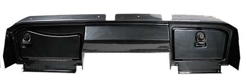 Dashboard EZ-Go RXV Black with Locking Doors