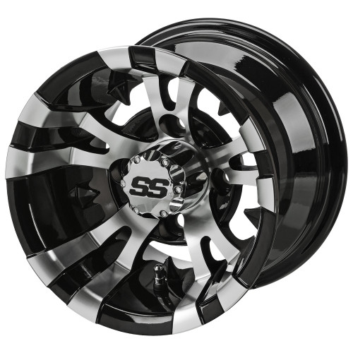 LSC Warlock SS 10x7 Machined/Black 3+4 Offset