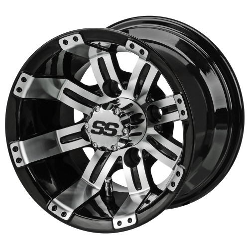 LSC Casino SS 10X7 Machined/Black 3+4 Offset