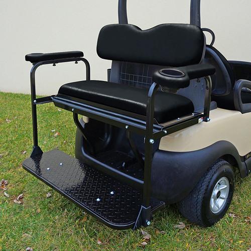 RHOX Super Saver Steel Rear Flip Seat Club Car Precedent Black