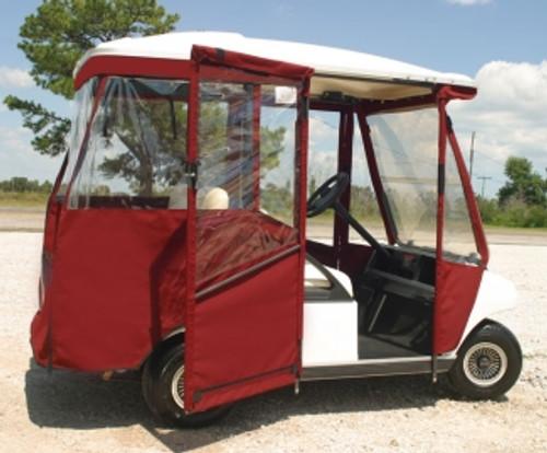 DoorWorks Hinged 3 Sided 4 Passenger Sunbrella Golf Cart Enclosure