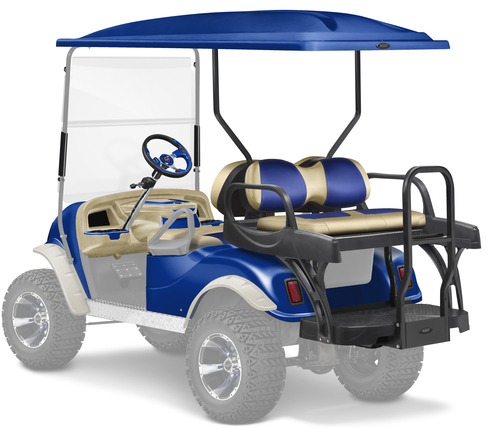 Doubletake complete EZ-GO TXT Golf Cart Refurbish Kit with MAX6 CRUZ Rear Seat