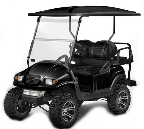 Doubletake Precedent Complete Black Golf Cart Refurbish Kit Phantom in Gloss Black