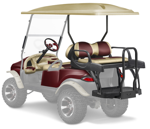 Doubletake Precedent Complete Black Golf Cart Refurbish Kit Phantom 8 Piece Upgrade Kit  with MAX6 CRUZ Rear Seat