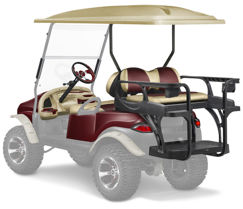 Doubletake Precedent Complete Black Golf Cart Refurbish Kit Phantom 8 Piece Upgrade Kit with MAX6 HELIX  Rear Seat