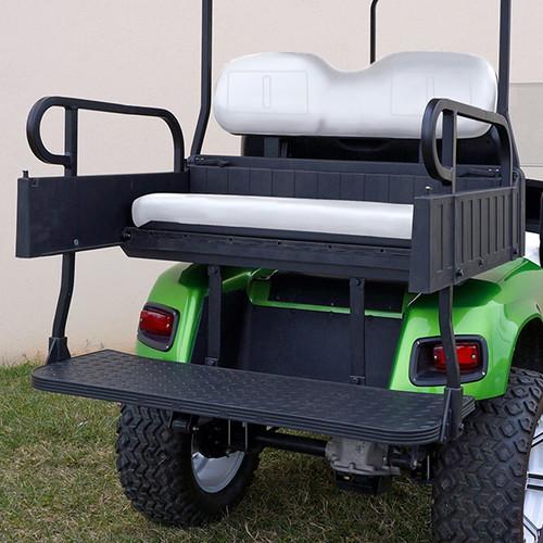 RHINO 900 Series Rear Seat/Cargo Box Kit for EZ-GO RXV Stone Beige (White Shown)