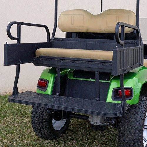 RHINO 900 Series Rear Seat/Cargo Box Kit for EZ-GO TXT Tan