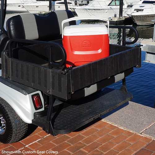 RHINO 900 Series Rear Seat/Cargo Box Kit easily converts to a Cargo Bed and Back to a Rear facing Seat