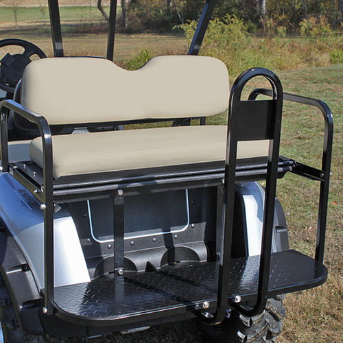 RHOX Super Saver Rear Flip Seat for EZGO RXV Stone Beige