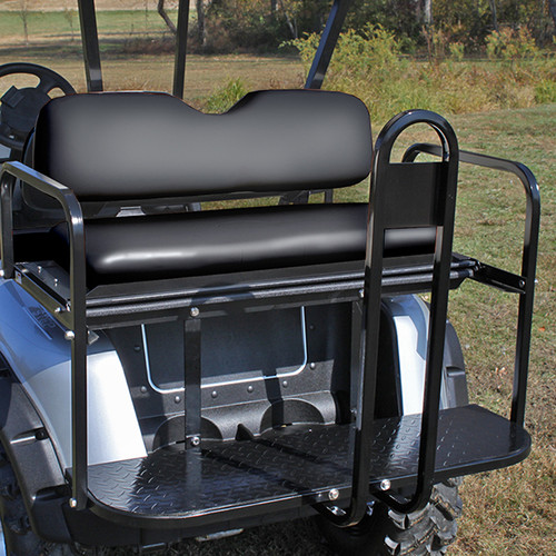 RHOX Super Saver Rear Flip Seat for EZGO RXV Stone Black
