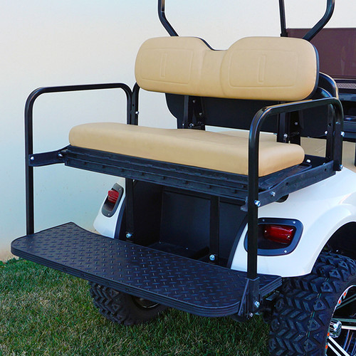 RHOX 400 Series Steel Rear Flip Seat for EZGO TXT Tan