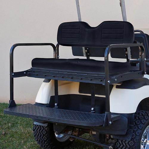 RHOX 400 Series Steel Rear Flip Seat for Yamaha G14-G22 Black