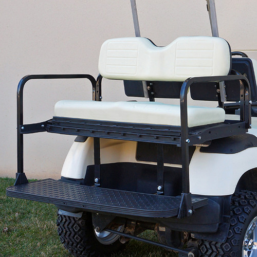 RHOX 400 Series Steel Rear Flip Seat for Yamaha G14-G22 Ivory