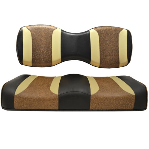 Madjax Tsunami Black-Autumn Harvest W/ Brown Ostrich Custom Rear Seat Cushion Assembly (Fits Genesis 250 / 300)