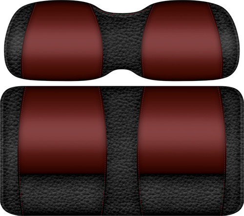 Veranda Edition Golf Cart Seat Black-Burgundy