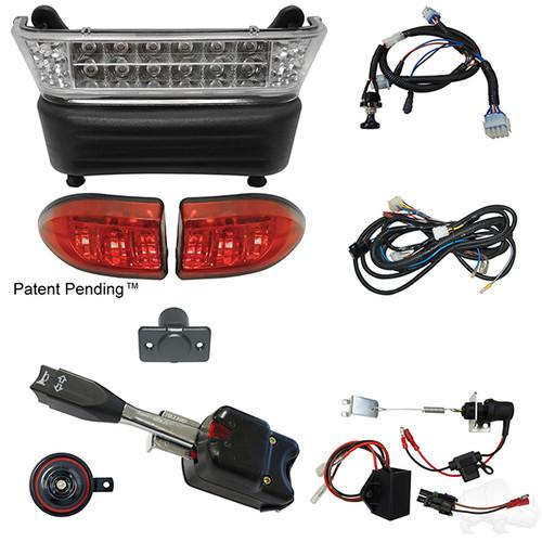 LED Light Bar Kit, Club Car Precedent, Electric 08.5+, 12-48v (Standard, Linkage)