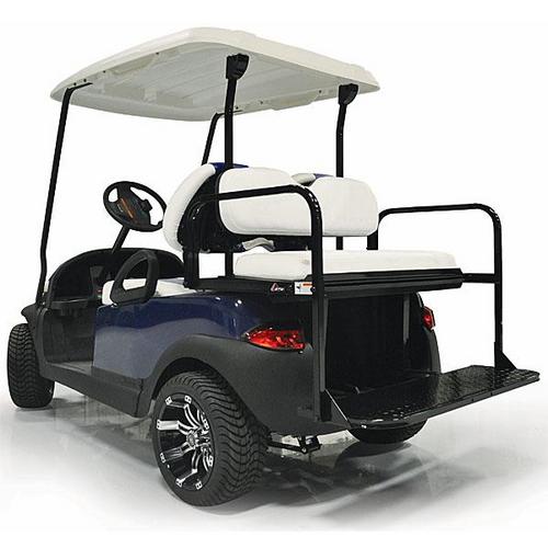 GTW Steel Rear Flip Seat for Yamaha Drive2 White
