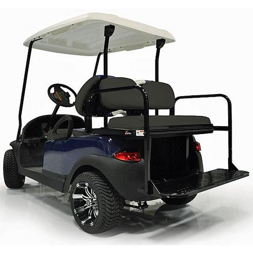 GTW Steel Rear Flip Seat for Yamaha Drive2 Black
