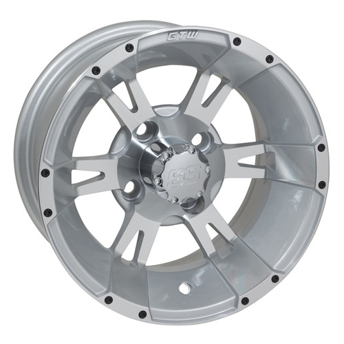 "GTW Yellow Jacket 12"" Machined & Silver Wheel (3:4 Offset)"