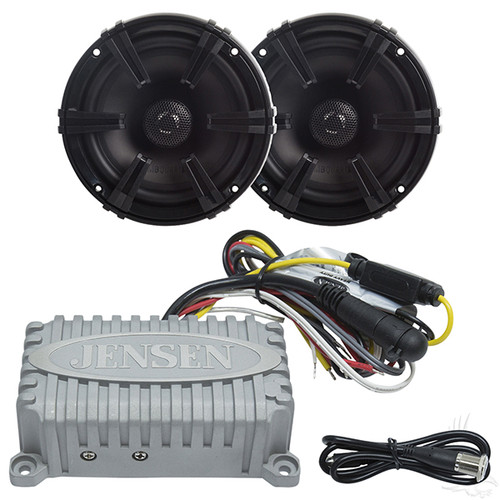"Bluetooth Audio Package with Jensen 2x80 Watt Marine Grade Amp and 5.25"" MB Quart Speakers"