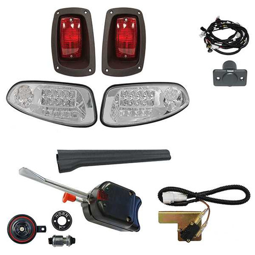 Deluxe LED Factory Light Kit, E-Z-Go RXV 2016+, Standard Turn Signal Assembly, Electric