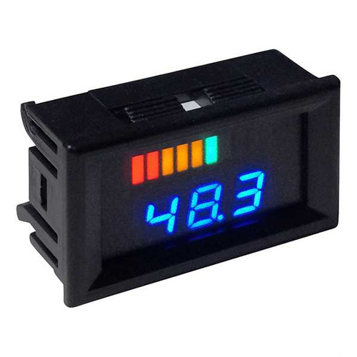 48 Volt Digital Voltage Display Charge Meter, Horizontal
