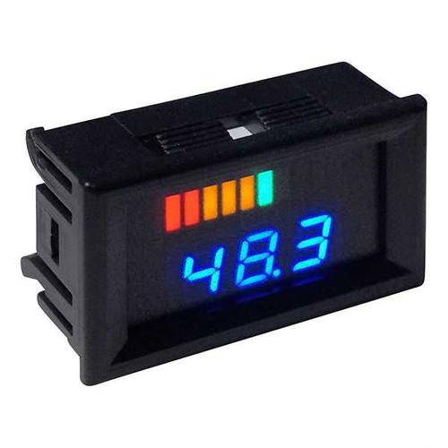48 Volt Digital Voltage Display Charge Meter, Horizontal