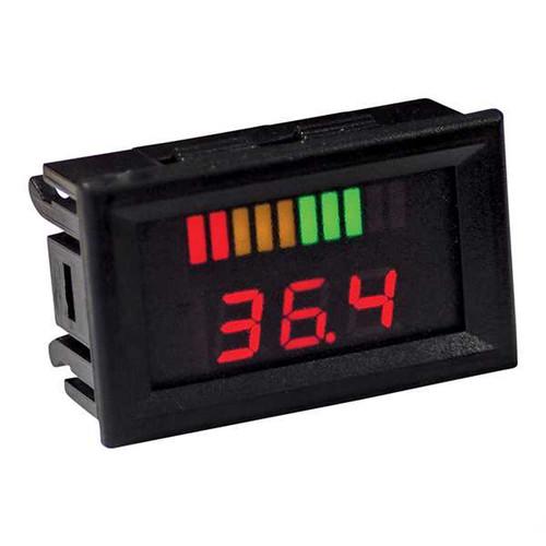 36 Volt Digital Voltage Display Charge Meter, Horizontal