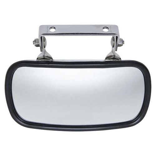 Universal 180 Degree Convex Roof Mount Mirror, Stainless