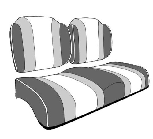 Lazy Life Premium Contour Three Tone Seat with Dual High Backs