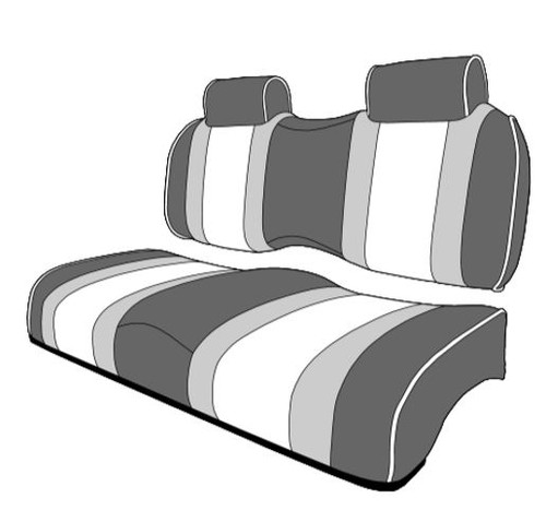 Lazy Life Premium Contour Three Tone Seat with Bench Backs and Headrest