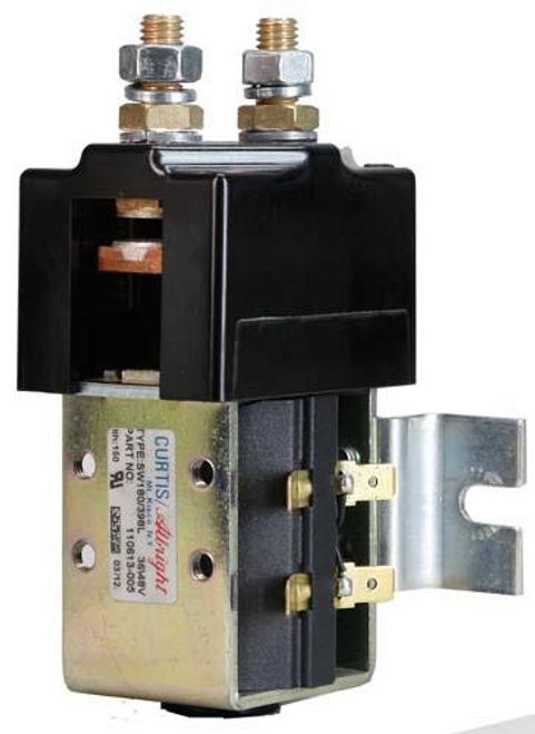 Curtis 48 Volt Heavy Duty High Amp Solenoid w/Bracket