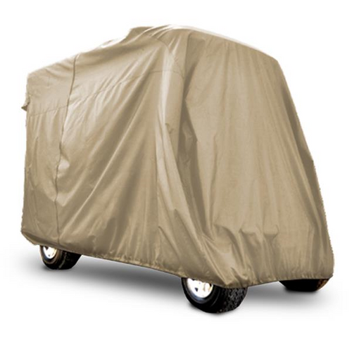 "Red Dot 120"" + Golf Cart Storage Cover Beige for Extended Carts"