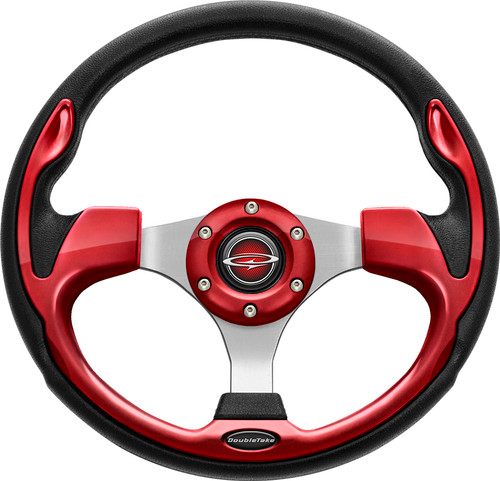 """Pilot 13"""" Color Matched Steering Wheel Ruby"""