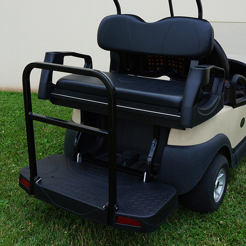 RHOX Rhino 500 Series Deluxe Rear Seat Assembly Club Car DS Black (Precedent Shown)