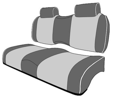 Premium Contour Golf Cart Seats Bench Backs with Headrest