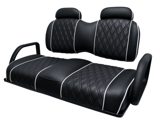 Exclusive  Bench Back Two Tone with Headrests (Shown with optional Center Stitching and Piping)