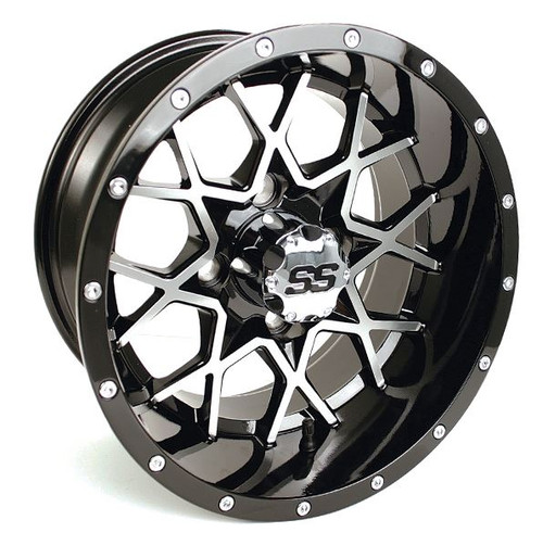 12x7 GTW Vortex Machined/Black with LP Tires Set of 4