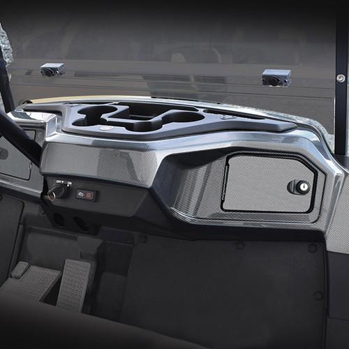 Dashboard, Yamaha Drive2 Two Locking Doors Carbon Fiber Installed