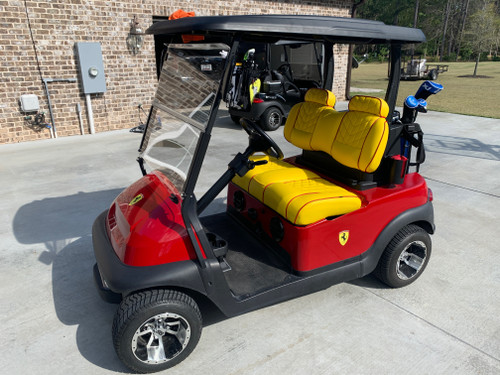 "Thank you Chad Burke  in Jesup GA. for this Great Looking ""Ferrari"" Cart Featuring Lazy Life Exclusive Benchback's"
