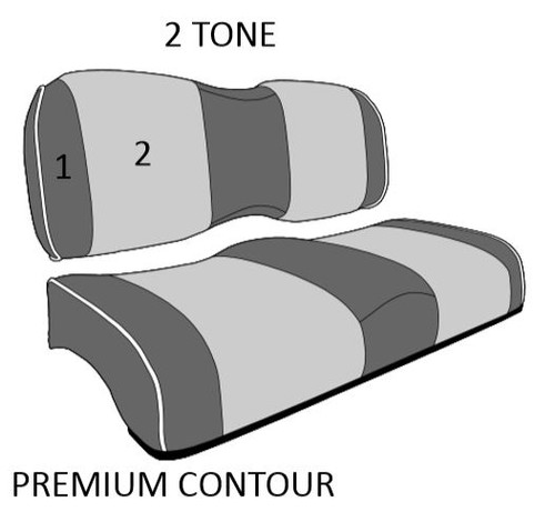 Premium Contour Benchback Two Tone REAR Seats | Extremekartz.com