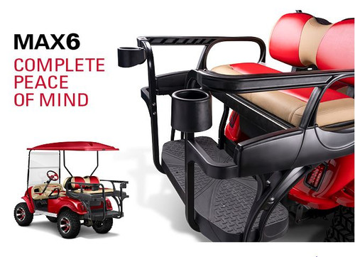 Doubletake MAX 6 HELIX Deluxe Golf Cart Rear Seat with Wrap Around Safety Bar