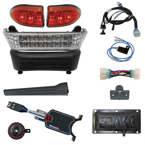 LED Light Bar Kit, Club Car Precedent, Gas & Electric 04-08.5, 12-48v, (Standard Turn Signal, Pedal Mount)