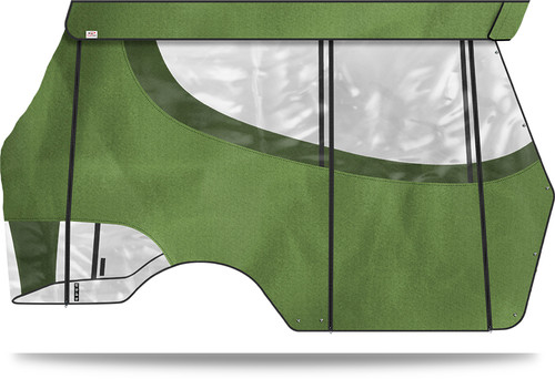 """Doubletake 4 Passenger Enclosure designed for Doubletake Tops 80"""" with Quik-Track Lime"""