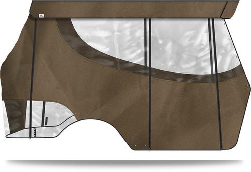 "Doubletake 4 Passenger Enclosure designed for Doubletake Tops 80"" with Quik-Track Bronze"
