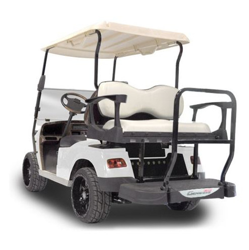 Madjax Genesis 300 with Deluxe Almond Aluminum Rear Flip Seat - Fits Star Cart